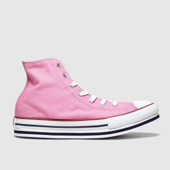 Converse Pink Hi Platform Eva Girls Youth