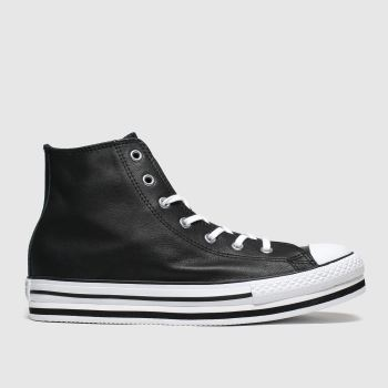 Converse Black All Star Hi Platform Eva Girls Youth