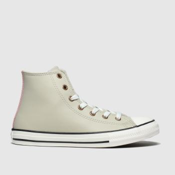 converse light grey all star hi mission warmth trainers youth