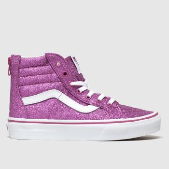 Vans Pink Sk8-hi Zip Glitter Girls Youth