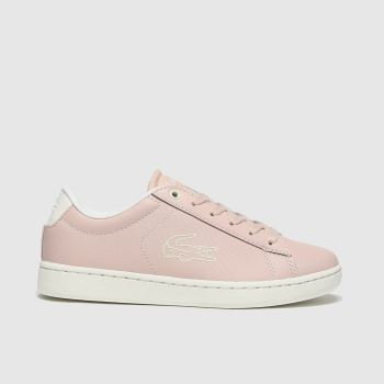 Lacoste Pale Pink Carnaby Evo Girls Youth