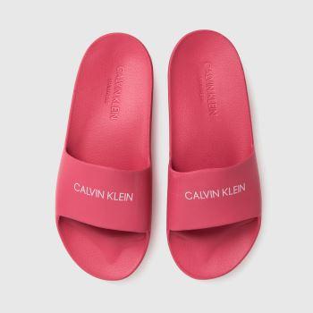 CALVIN KLEIN Pink Slides Girls Youth