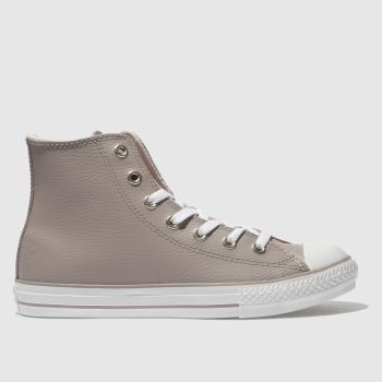 Converse Pale Pink All Star Hi Leather Girls Youth