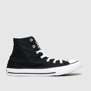 Converse Black & Brown Hi Leopard c2namevalue::Girls Youth