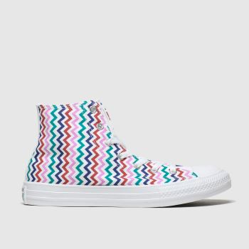 Converse White & Pink Hi Vltg Girls Youth