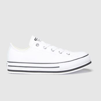 Converse White & Black Lo Platform Eva Girls Youth