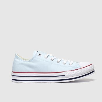 Converse Pale Blue All Star Lo Platform Eva Girls Youth