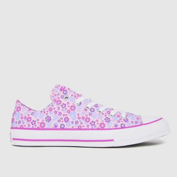 Converse Pale Pink Lo Ditsy Floral Girls Youth
