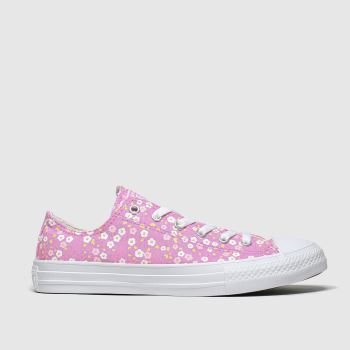 Converse Pink Lo Floral Girls Youth