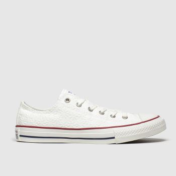 Converse White Lo Miss Chuck Girls Youth#