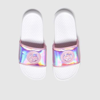 Hype White & Pink Pink Holographic Girls Youth