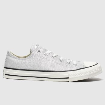 Converse Silver All Star Lo Summer Sparkle Girls Youth#