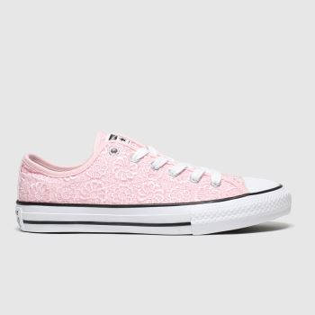 Converse Pink All Star Lo Daisy Crochet Girls Youth