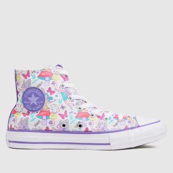 Converse White & Purple Hi Fantasy Print Girls Youth