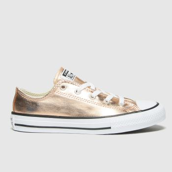 Converse Gold Lo Metallic Girls Youth