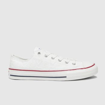 Converse White Lo Love Ceremony Girls Youth