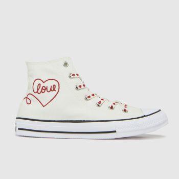 Converse White & Black Hi Love Thread Girls Youth