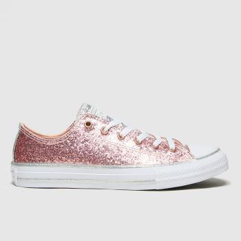 Converse Pink Lo Glitter Girls Youth