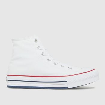 Converse White Eva Lift Hi Girls Youth