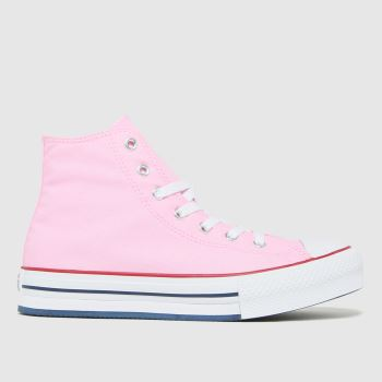Converse Pink Eva Lift Hi Girls Youth