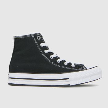 Converse Black Eva Lift Hi Girls Youth