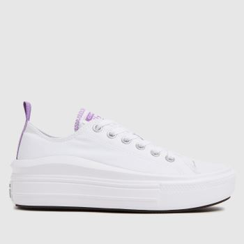 Converse White & Purple Move Color Pop Girls Youth