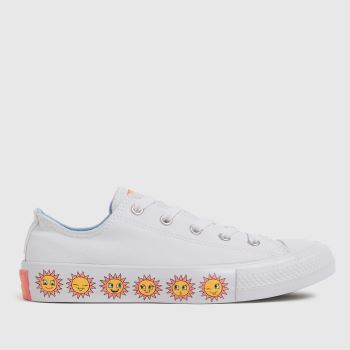 Converse White Lo Sunflower Girls Youth