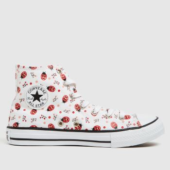 Converse White & Red Hi Flowery Bugs Girls Youth