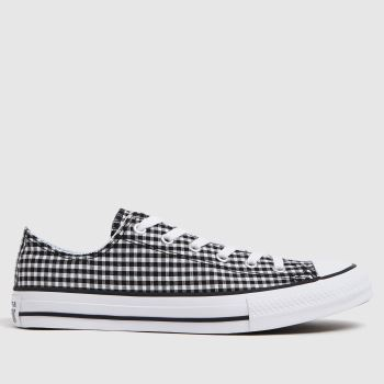 Converse Black & White Lo Gingham Girls Youth