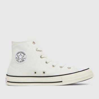 Converse White Hi Uv Glitter Girls Youth
