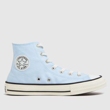 Converse Pale Blue Hi Uv Glitter Girls Youth