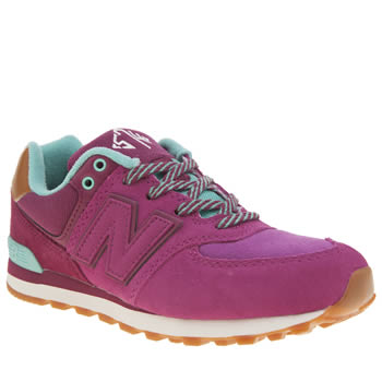 New Balance Pink 574 New England Girls Youth