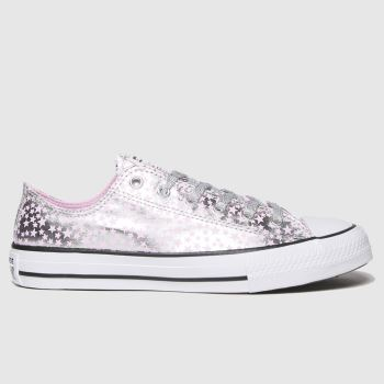 Converse silver lo shes a star trainers youth
