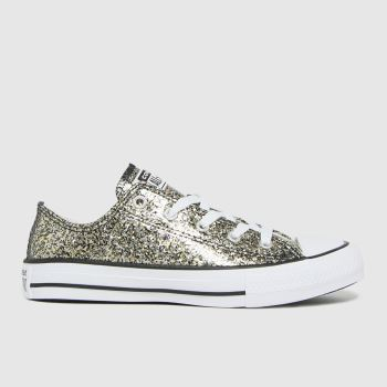 Converse Black & Gold All Star Lo Glitter Girls Youth