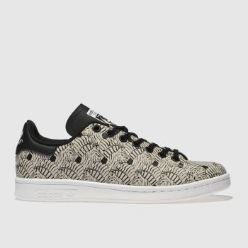 Adidas White & Black Stan Smith Girls Youth