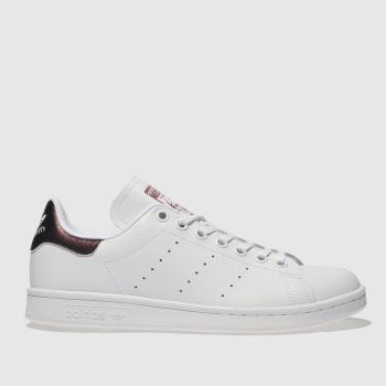 Adidas White & Purple STAN SMITH Girls Youth