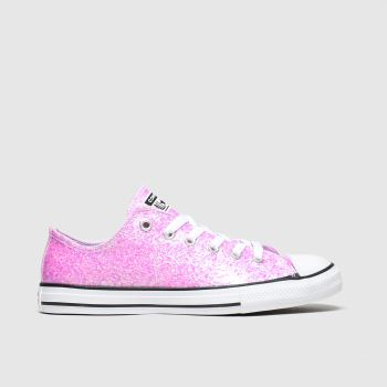Converse Pale Pink All Star Lo Glitter c2namevalue::Girls Youth