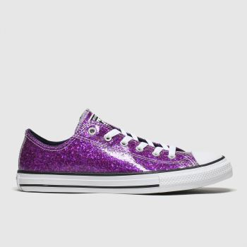 Converse Purple All Star Lo Glitter Girls Youth