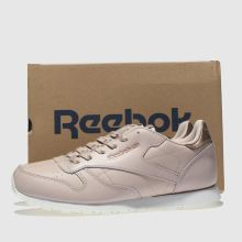 2b6ee09137c Girls pale pink reebok classic leather estl trainers