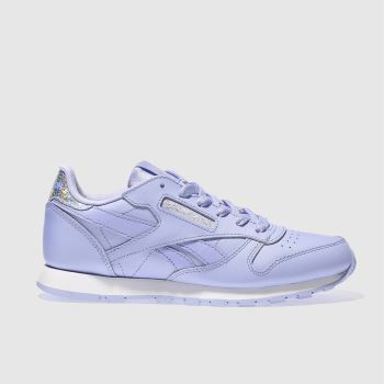 Reebok Lilac Classic Leather Girls Youth