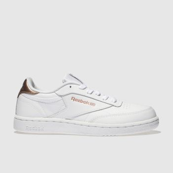 Reebok White Club C Estls Girls Youth