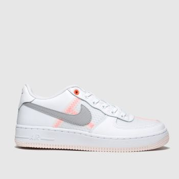 Nike White & grey Air Force 1 Lv8 Girls Youth