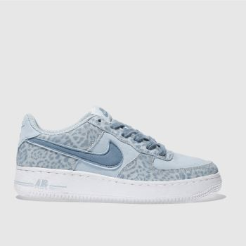 NIKE PALE BLUE AIR FORCE 1 LV8 TRAINERS YOUTH