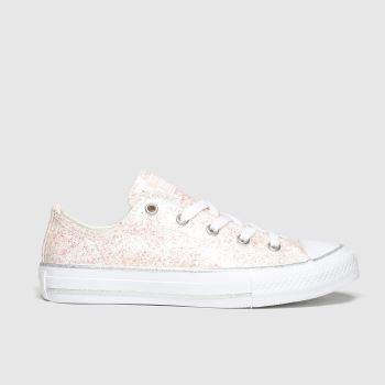Converse Pale Pink Lo Glitter Girls Youth