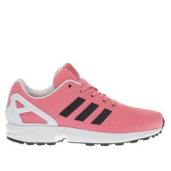 33322018a34d Girls pink   black adidas zx flux trainers