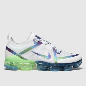 Nike White & Silver Air Vapormax 2019 Girls Youth