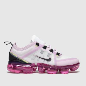 Nike White & Pink Air Vapormax 2019 Girls Youth