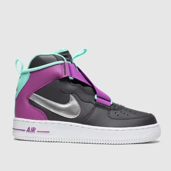 nike dark grey air force 1 highness trainers youth