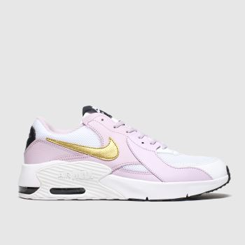 Nike White & Pink Air Max Excee Girls Youth