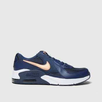Nike Navy & Gold Air Max Excee Girls Youth